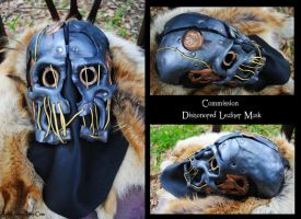 Commission: Leather Dishonored Mask by Epic-Leather