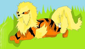 Arcanine! by Kihomi-doglover