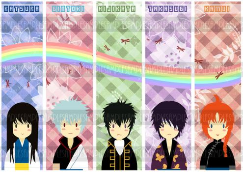 Gintama Bookmarks by michiika