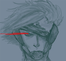 raiden headshot/bust sketch by LQ-84i