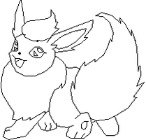 Flareon base by thecat1313