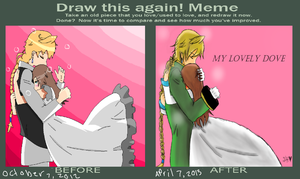 Meme  Before And After | Sarah x Jack by TrainerHarmony
