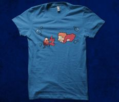 Hungry Ponyo T-shirt Design by alsnow