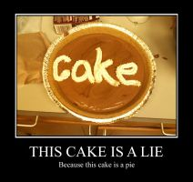 This Cake is a Lie by 4everN3rdy