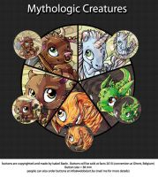 Buttons: Mythologic creatures by tikopets