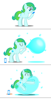 Delphina's bubble play by BladeDragoon7575