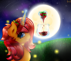 At the light of the moon and fireflies by TheTarkaana
