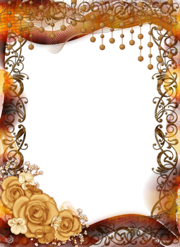 frame with roses and ornaments by Lyotta