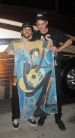 Live Painting of G. Love by jayalders