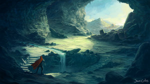Sunsoaked Cave by AtTheSpeedOfFetus