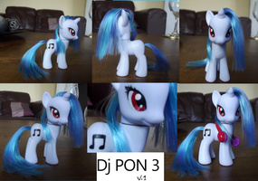 Custom Pony- DJ PON 3 (Vinyl Scratch) by V-Velvet