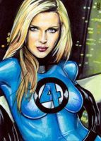 Sue Storm Sketch Card 5 by veripwolf