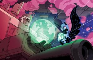 MLP/TF Nightmare Moon/Megatron Lithograph by TonyFleecs