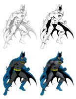 Garcia-Lopez Style Batman - Process by Almayer