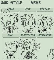 Amy Rose Hairstyle Meme by Ozzybae