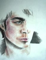Damon Salvatore by dr4wing-pencil