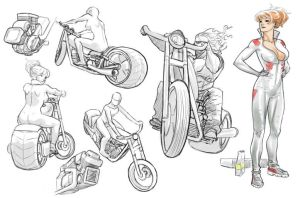 bikes sketch by EXPAJE