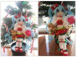 Christmas Miku Plushie by CocoaSama