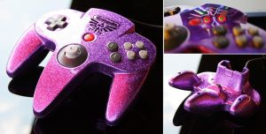 custom majoras masko purple flake N64 controll by Zoki64