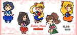 Sailor Moon STICKERS by norree