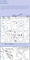 CANON CHARACTERS AND OC MEME by Windaura
