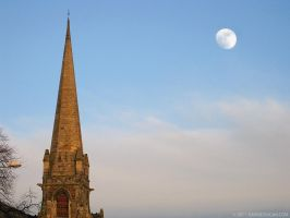 Day Moon Over Broughty Ferry by gdphotography