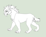 Female Smilodon by Lerynn