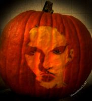 Jonathan Rhys meyers _ Carved Pumpkin 2 by Queensrain