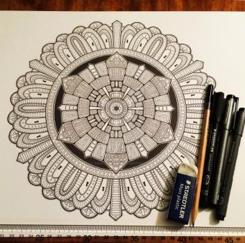 Advanced Mandala Colouring Book Vol 2 - Pic 1 / 2 by Mandala-Jim