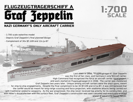 Nazi Aircraft Carrier Graf Zeppelin Paper Model by RocketmanTan