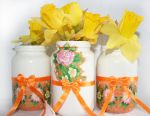 Handmade Easter holidays decorative jar by art-sisters
