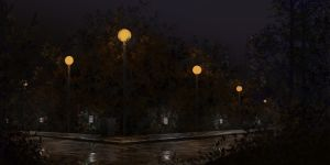 Evening in the park by incasent