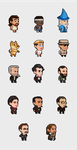 Pixel characters by nhe1