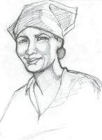 Mom Sketch for portrait by meleeinabox