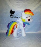 Rainbow Dash! Pony Plush by Vegeto-UchihaPortgas
