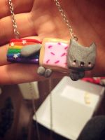 Polymer Clay Nyan Cat by Fluffybunnycharms