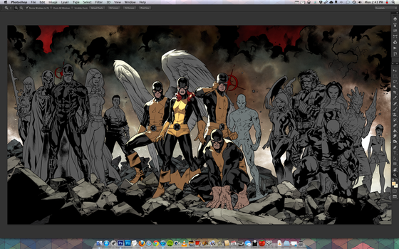 All New XMEN 01 and 02 COVER WIP! by MarteGracia