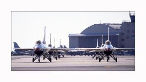 Thunderbird Arrival PAFB, 1995 by OpticaLLightspeed