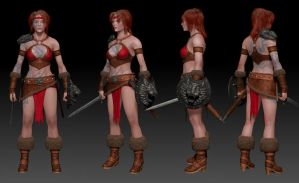 Barbarian Girl Turn by 3dimych