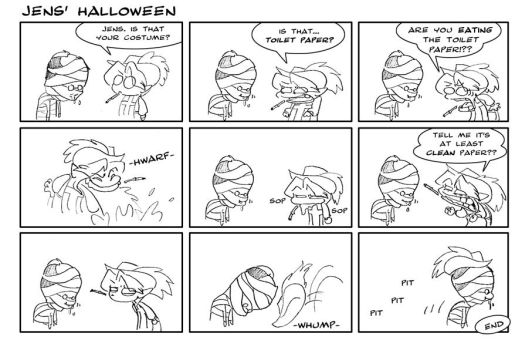 Comic- Jens' Halloween by ThirdPotato