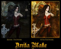 Before and After of Anita by SkellyKat