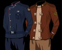 Old and New Battlestar Galactica Uniforms by Brandtk