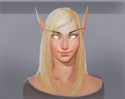 blood elf portrait 2 by Echilo