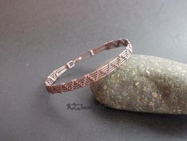 Wire Wrapped Copper Bracelet by kulmajs