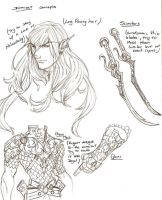 Drizzt concept darwing by Nehemya