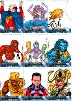 Avengers sketchcards set 4 by SpiderGuile