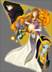 Zelda and Midna Coloured by Lady-Zelda-of-Hyrule