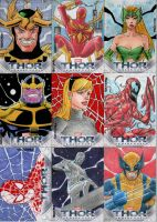 Thor 2 Sketch Cards set 3 by wardogs101