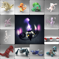 3D Pokemon pictures pack by ElyStrife