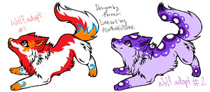 2 Wolf Adoptables by iFerneh